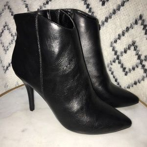 New Black heeled ankle boots